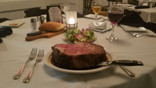 While new chef Erik Hyslop has brought in some new variety to the menu at Michael's, the prime rib remains the restaurant's most popular item.
