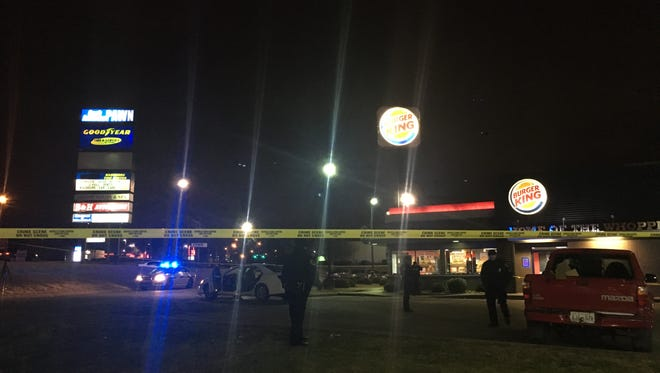 MNPD respond to a double fatal shooting at Burger King on Murfreesboro Road.