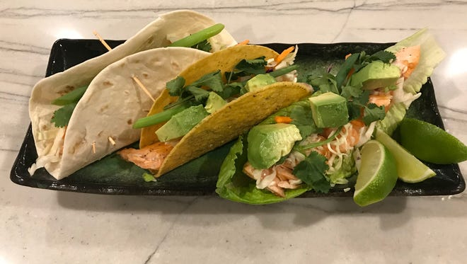 Kiki's Salmon Tacos 3-ways