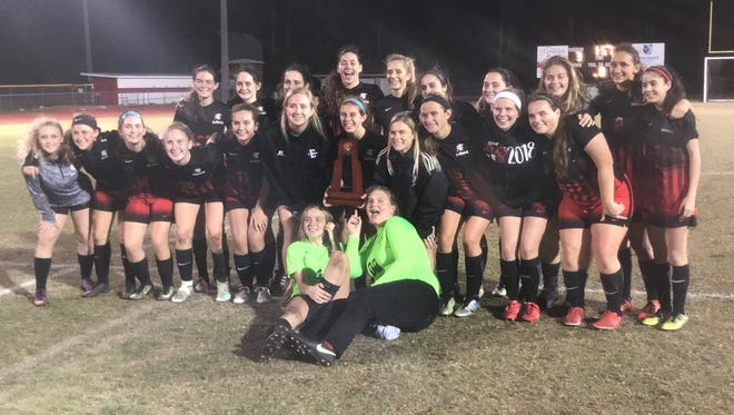 The ECS girls soccer team upset Canterbury 3-2 for the District A-8 title.