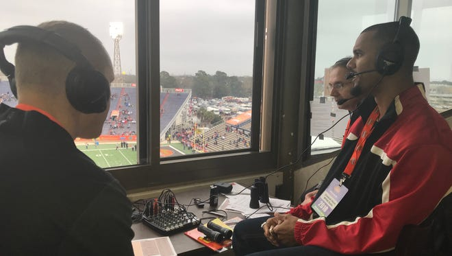 Two-time Super Bowl winner  Domenik Hixon, now a Pensacola resident, was part of WPNN's radio broadcast of Senior Bowl Saturday with Paul Chestnutt and Jared Whipkey