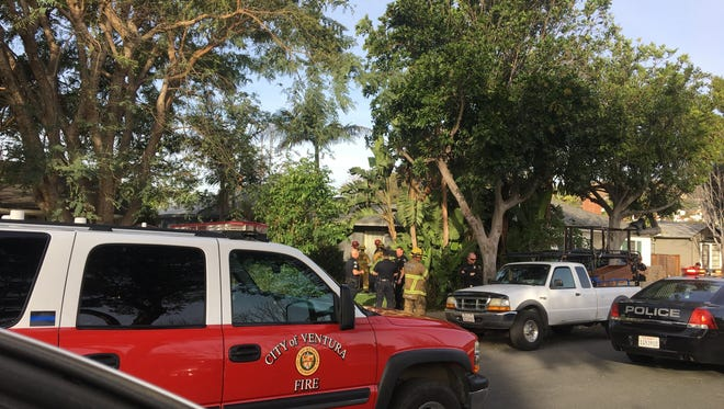 Investigators with the Ventura police and fire departments responded to a report of an explosion on Evergreen Drive about 8 a.m. Monday.
