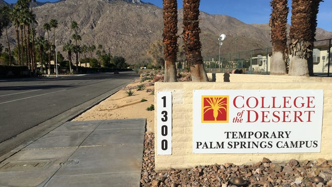 College of the Desert opened its temporary campus at Hermosa Drive and Baristo Road in Palm Springs. Residents were concerned about traffic congestion but roads were mostly empty on the first day of classes.