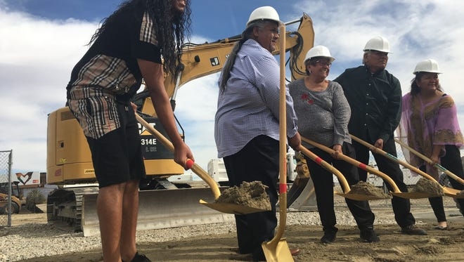 Groundbreaking with Chairman Darrell Mike, family and tribal members.