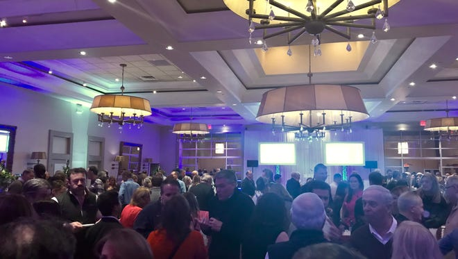 The huge crowd at the Ultimate Tailgate Fundraiser.
