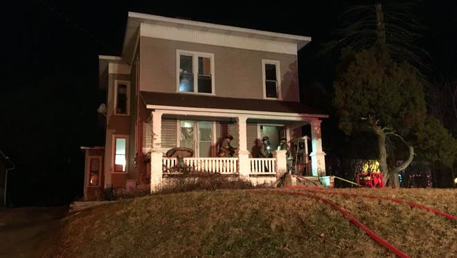 At least nine people were displaced from a Lexington Avenue home after an electrical fire on Wednesday, Jan. 31, 2018. The cause is believed to be electrical, according to the Mansfield Fire Department.