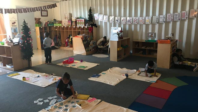 A Montessori classroom at Mable Brasher Elementary, which will officially offer the program in pre-K and Kindergarten for the first time next year. Enrollment for Montessori and magnet programs is going on this month.