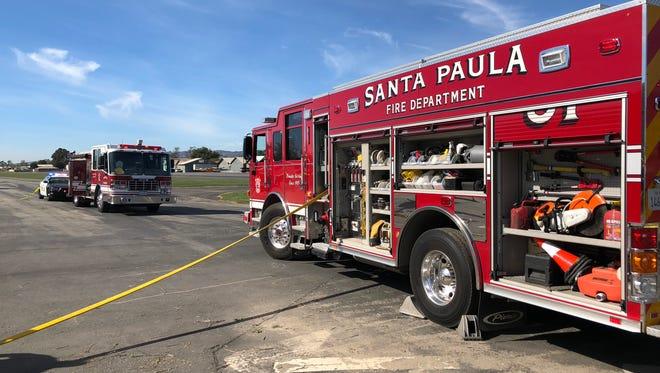 A Santa Paula Fire Department truck.
