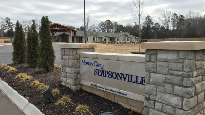 Memory Care of Simpsonville is expected to open in April after delays.