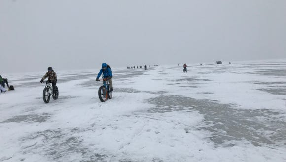 The Bike Across Bago event on Feb. 3 was a deep winter