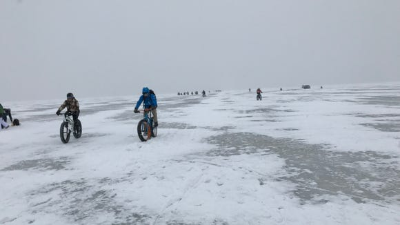 The Bike Across Bago event on Feb. 3 was a deep winter test of cycling mettle.