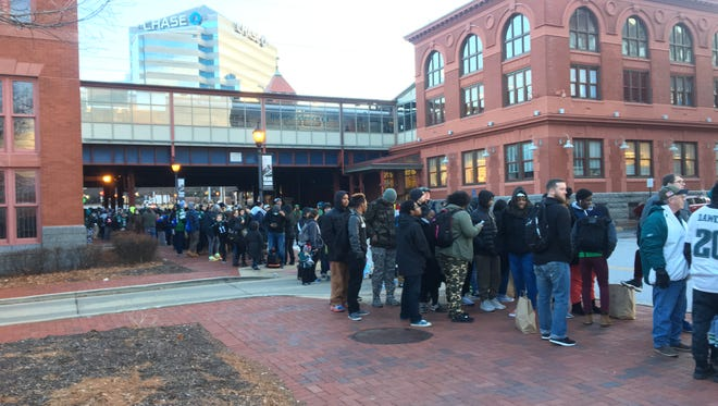 Thousands of Philadelphia Eagles fans showed up at Wilmington train station Thursday hoping to board a SEPTA commuter rail to Philadelphia.