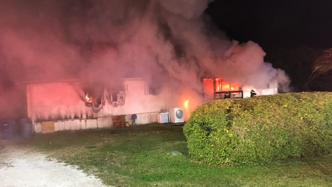 A Fort Myers home was destroyed in a fire Friday morning, San Carlos Park Fire & Rescue reports.