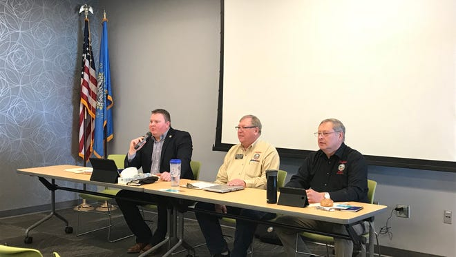 Lawmakers from district 11 speak to voters at a forum hosted by the Minnehaha County GOP Saturday.