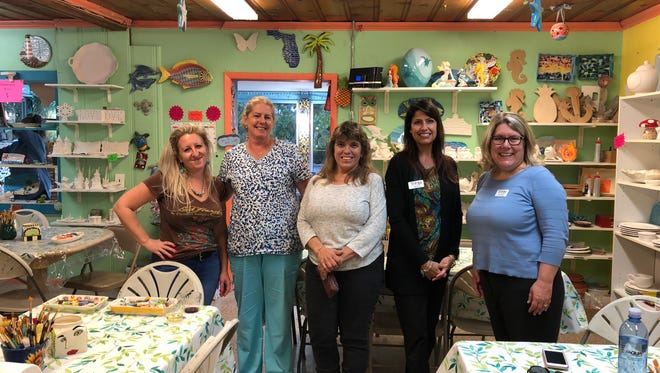 Staff from Stuart Ceramics and Trilogy Home Healthcare are spending their Wednesdays in February painting ceramic hearts for cancer patients. If you'd like to join them, call Teresa Hilton, 772 559-6509.