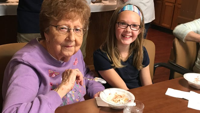 A pen pal program was started with students from St. Francis of Assisi School and The Gardens residents.  Letters were written throughout the school year and near the end of the year, residents and students had a chance to meet face-to-face at Felician Village to enjoy conversation and some treats.