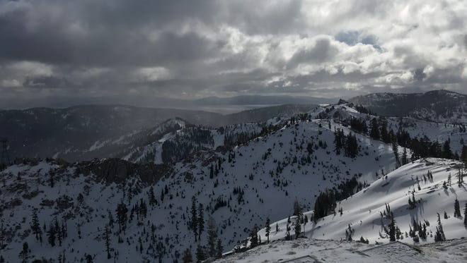 Six inches of fresh snow blanket Squaw Valley-Alpine Meadows ski resort on Feb. 19, 2018.