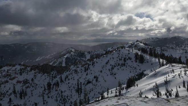 Six inches of fresh snow blanket Squaw Valley-Alpine Meadows ski resort on Feb. 19, 2018.