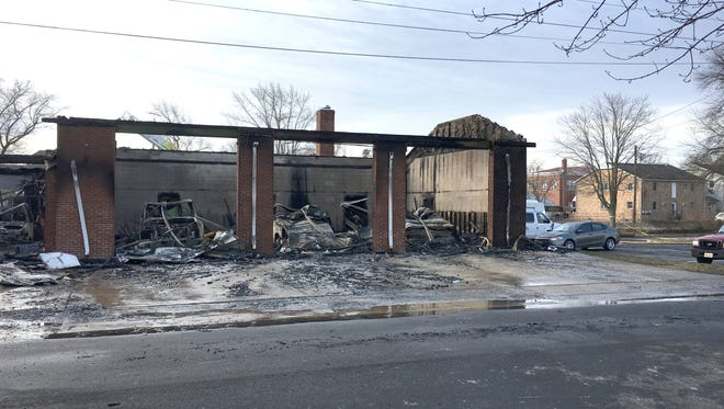 A fire Monday gutted the American Legion Ambulance Association in Woodstown.