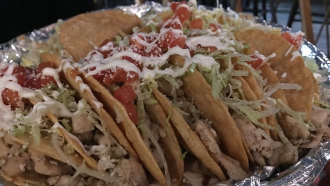 Fried chicken tacos at Maciel's.