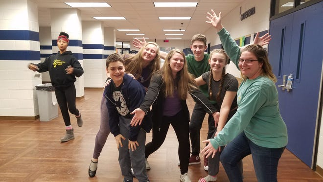 """A cast of some 35 North Farmington High School actors bring """"Seussical"""" to the stage at Farmington High School this week."""