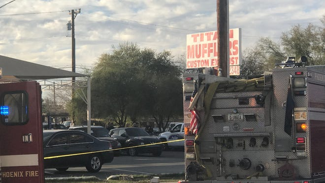 Phoenix police were at the scene of an officer-involved shooting. Initial reports said three victims are involved.