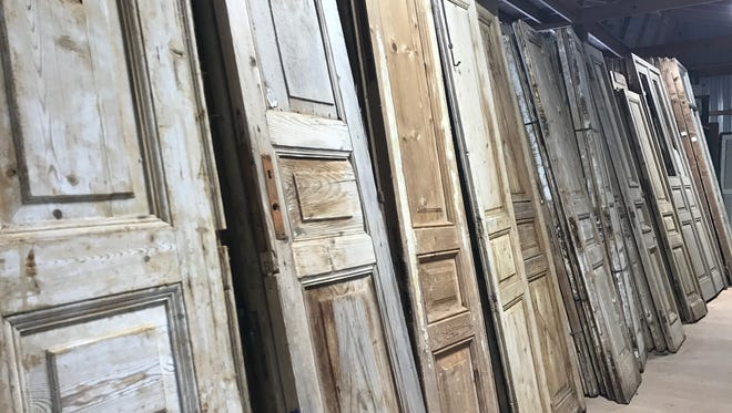 Antique doors of varying sizes and styles can be used.