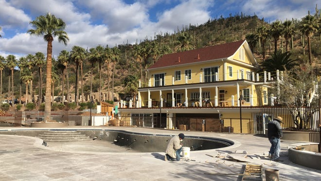 The John F. Kennedy House, formerly an administration building at Castle Hot Springs, will house the lobby and restaurant when the resort reopens in October 2018.