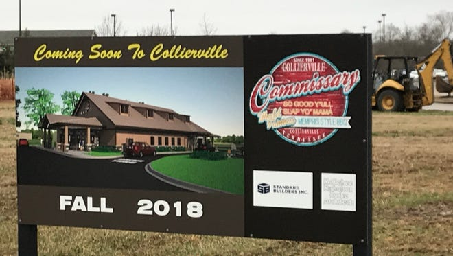 Site work will begin soon on the Collierville Commissary, which will open this fall.