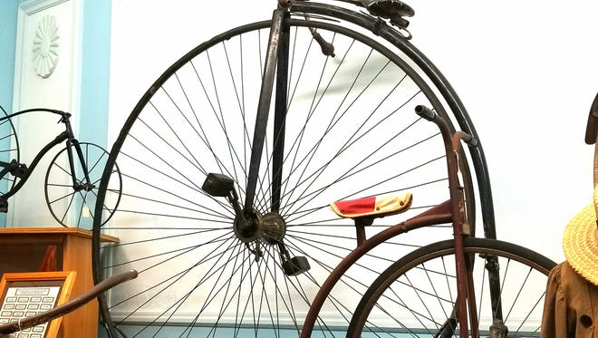 A penny-farthing bike is on display at the Deke Slayton Memorial Space and Bicycle Museum in Sparta.