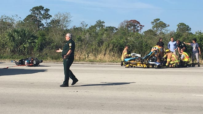 The rider of the scooter was taken to the hospital after the March 1, 2018, crash at U.S. 1 and 37th Street.