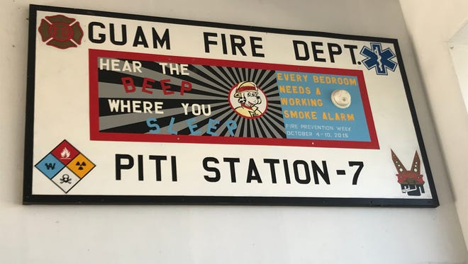 The Guam Fire Department's Piti station was shut down on Sunday, March 4 due to the government financial crisis.