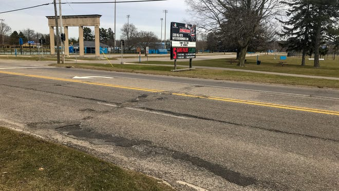 The road in front of Bailey Park is part of the 2.6 miles of M-66 getting resurfaced from Frey Drive to Capital Avenue and Division Street. Construction will go from May to August.