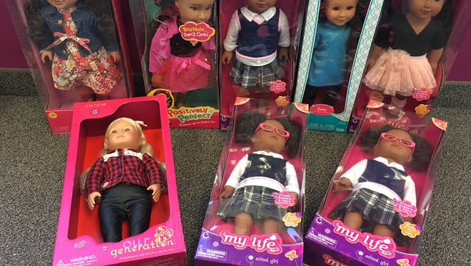 Tracey Heisler picked up these eight dolls you donated for the foster girls of CASA SHaW on Tuesday.