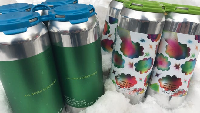 The two beers released at the Other Half mobile can release last weekend in Rochester.