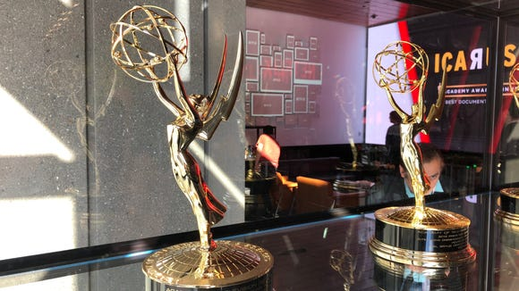 """Visitors to Netflix's offices in Hollywood are greeted by a row of Emmys, and an announcement that """"Icarus,"""" a documentary that aired on Netflix, won the Oscar in 2018. It's Netflix's first Oscar."""
