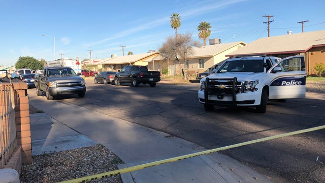 A man was fatally shot in the driveway of a home near 67th and Hazelwood avenues in Phoenix on March 12, 2018.
