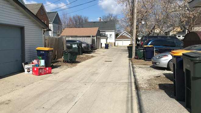 """An alley near the 1600 block of South 64th Street seems to have become a kind of """"rumble alley."""" Three times in February and March, large groups of teenagers have assembled, fought and then sped away in cars."""