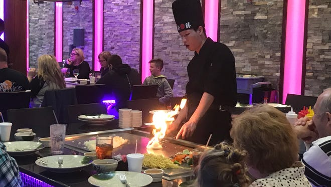 If you're lucky, the chefs at Kiku Japanese Steakhouse in MIddletown will create a flaming volcano from stacks of onion rings.