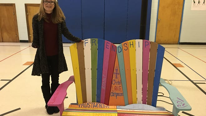 """Acacia """"Tiny"""" Woodley, founder of Tiny Girl, Big Dream, will unveil Friendship Benches at Parkside, Chegwin and Evan Elementary School, as well as the Fond du Lac Boys & Girls Club."""