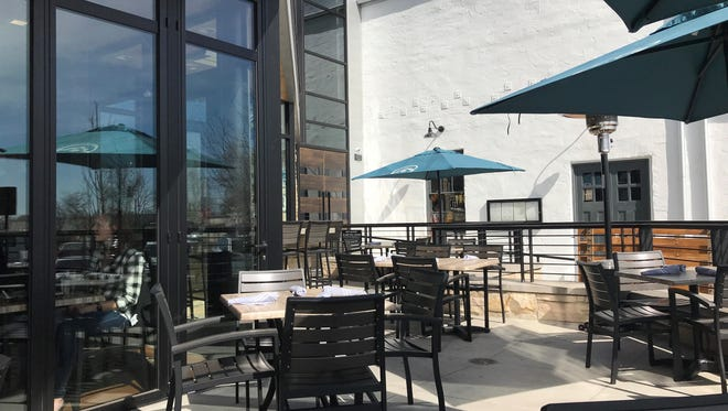 The Cafe at Ginger and Baker offers a patio overlooking Linden Street.