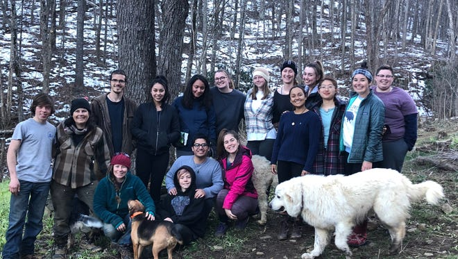 Students volunteered at the Woodland Harvest Mountain Farm in North Carolina as part of FSU's Alternative Breaks program.