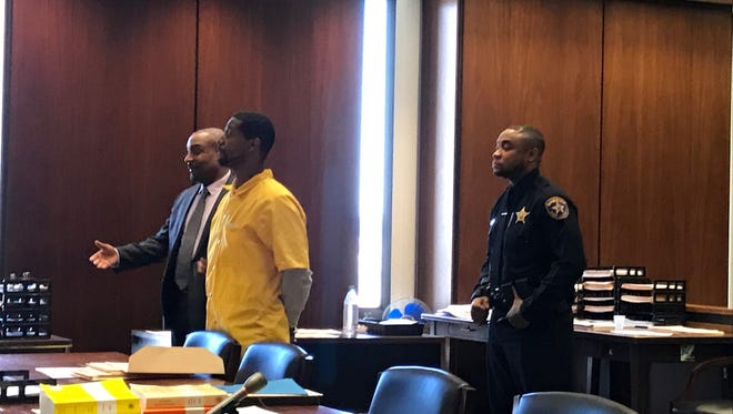 Juelz Santana in court in Newark on March 19, 2018.