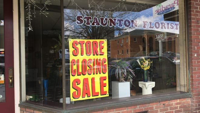 Staunton Florist on Central Avenue in downtown Staunton will close at the end of March.