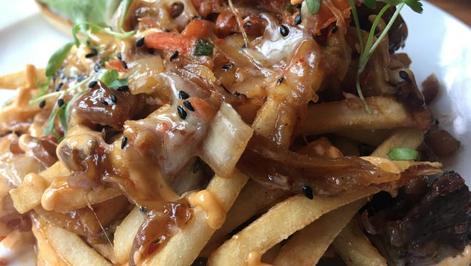Kimchi fries at Acre.