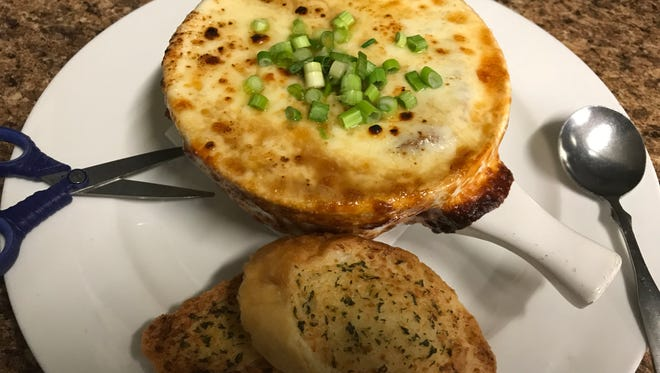 The French Onion Soup is the most popular item on the menu at Spanky's.