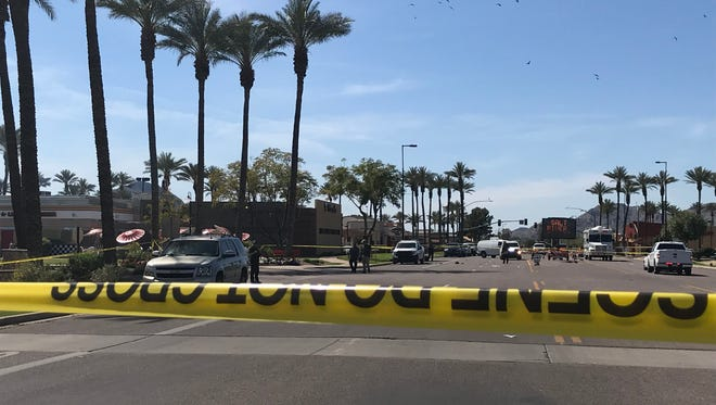 The FBI is investigating an officer-involved shooting near Loop 101 and Talking Stick Way on March 23, 2018.