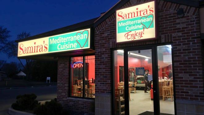 Samira's Mediterranean Cuisine opened in Appleton.