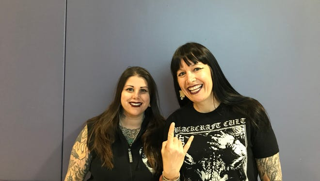 Heather Ruin, left, and Jenn Sumeracki have seen Alice Cooper in concert more than 40 times.