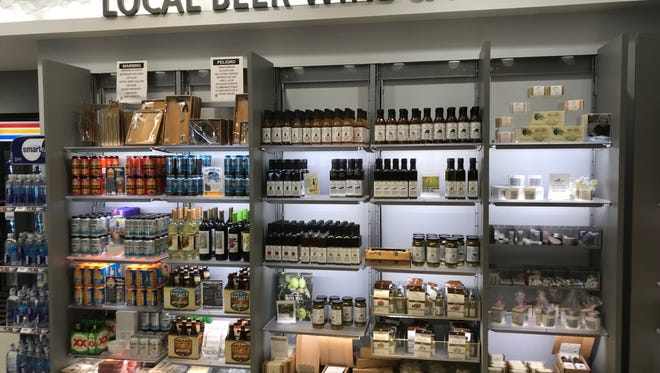 Arizona beer and wine are now stocked alongside other local souvenirs and gifts at the AZCentral.com store in Terminal 4 at Phoenix Sky Harbor International Airport.